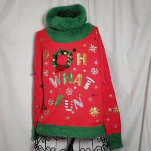 Ugly Christmas Sweater, Oh What Fun! NWT
